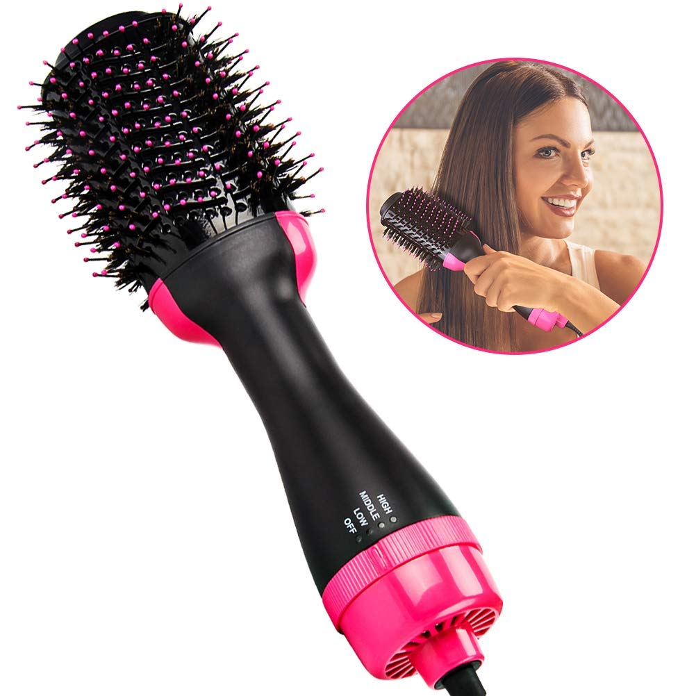 Hair Dryer Brush, KALDOREI One Step Hair Dryer Volumizer, 3-in-1 Hot Air Negative Ion Straightener Curly Styler Brush for All Hair Type with Anti-Scald Feature