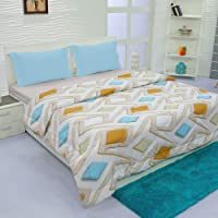 Aurome - Microfiber, Double Bed All Weather, A/C Comforter, (120 GSM) - Rhombus Print, Multicolor
