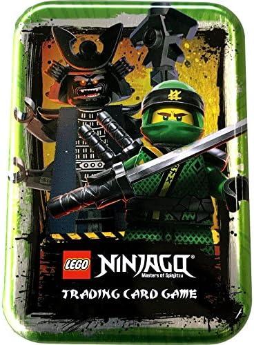 LEGO Ninjago Sammelkarten Box 3 Leere Dosen f/ür Trading Cards in Schwarz Silber und Gr/ün
