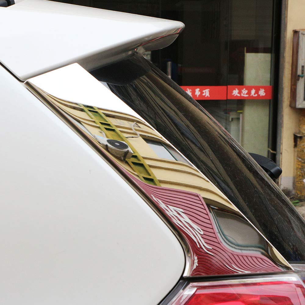 Carmilla 2pcs set car rear window side wing cover trim sticker for nissan x trail xtrail t32 2013 2016 exterior accessories amazon in car motorbike