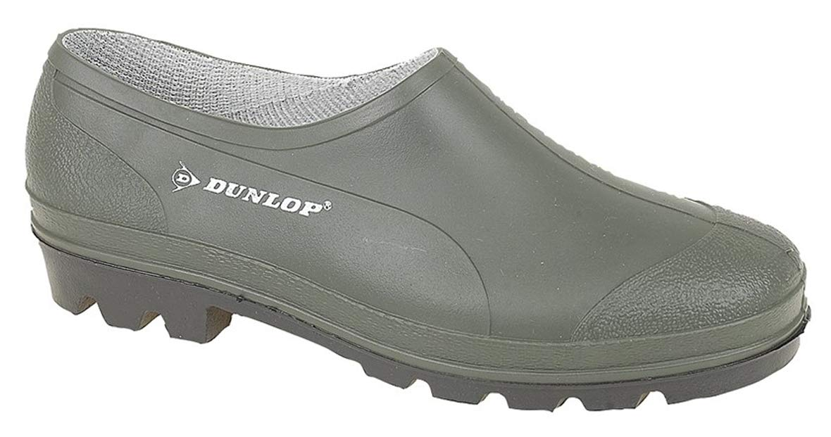 5b801f9758a19 Dunlop Unisex Mens Womens Green Slip On Gardening Low Cut Wellies Shoes  Clogs product image