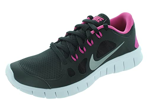 4d6ee5283f6a Nike Youth Free 5.0 Training Shoe Black Pink Silver Size 5.5