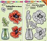 Stampendous Pretty Poppies Stamps & Dies Set - 2 Item Bundle