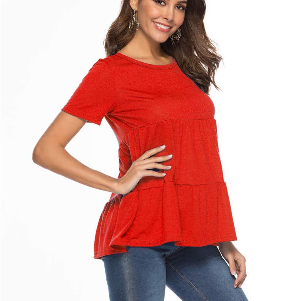 Womens Long Sleeve Lotus Ruffled Casual Loose Shirt Chiffon Blouse Tops