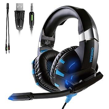 ATUTEN Auriculares Gaming para Xbox One / PS4 - Onikuma K2 3.5mm Cancelación de Ruido