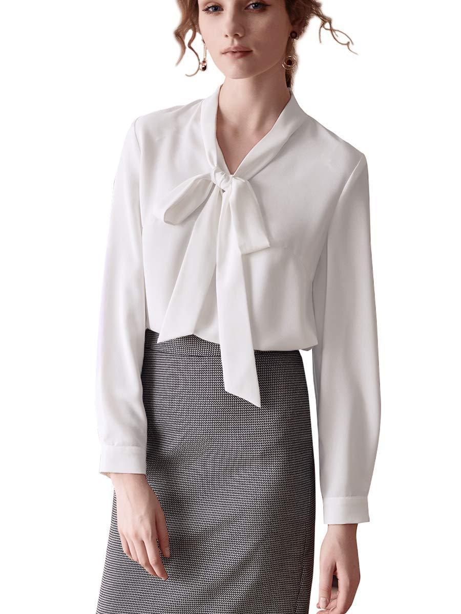 f3f689840536 Ladies Long White Chiffon Shirt | Top Mode Depot