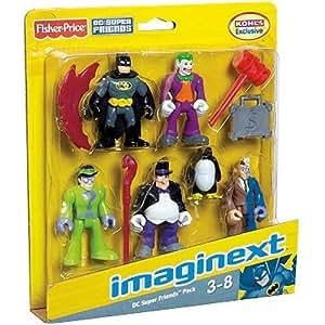 Imaginext DC Super Friends Pack Batman etc to go with batcave