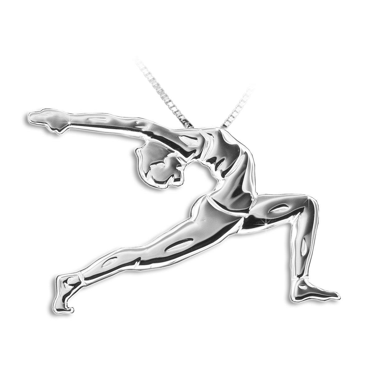 "UTTHITA ASHWA SANCHALASANA Equestrian Pose /""Sun Salutation/"" MIKELART Yoga Jewellery Pendant"
