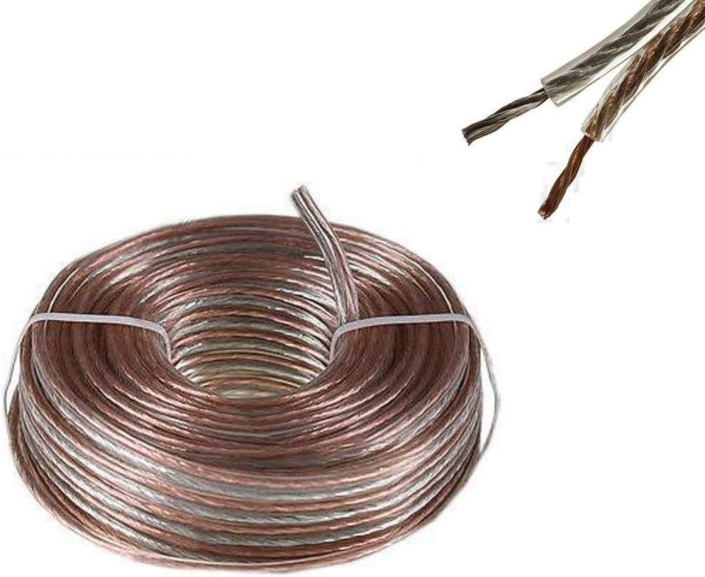 100'ft feet 18 awg Heavy Duty ag Gauge HOME / CAR Audio Speaker Wire Cable