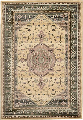 Clearance 6' 7 x 9' 6 Feet Heriz Area Rug Beige limited Time Offer - Perfect for any floor Rugs & Carpets