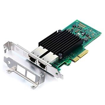 H!Fiber.com Tarjeta de Red PCIE de 10 GB para Intel X550-T2 ...