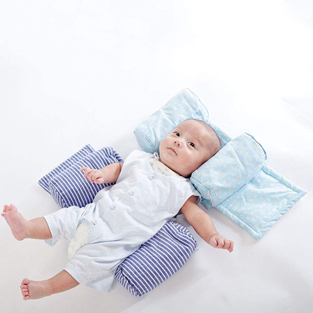 Cotton Core Rollover Concave Anti-rollover Prevent Head Tilt for 0-3T Baby Girl Boy wavewave Catton Infant Head Styling Pillow