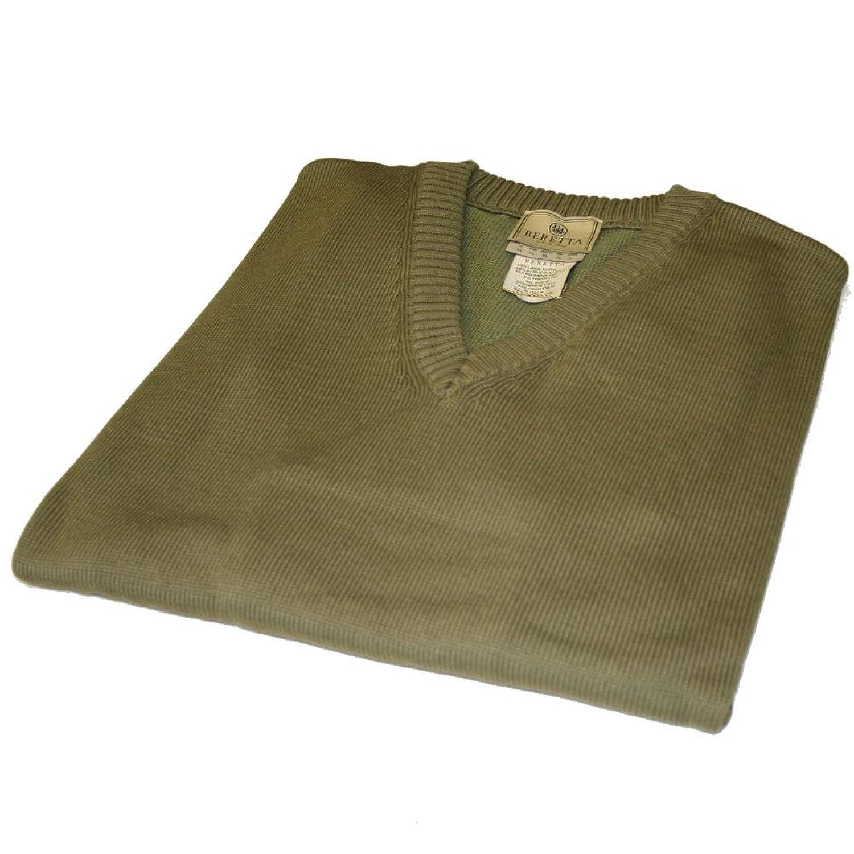 Beretta PU81 PP - Techwool II Sweater V Neck In Olive Green