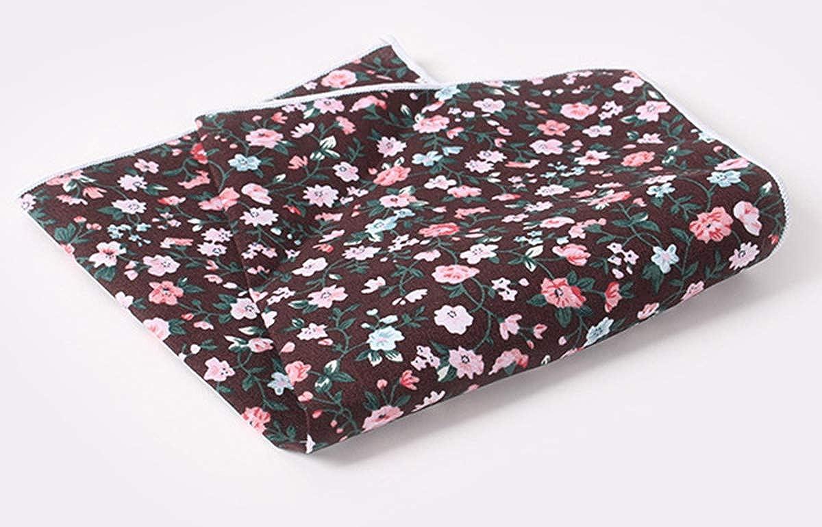 Panegy Mens Pocket Square Cotton Floral Printed Formal Handkerchief