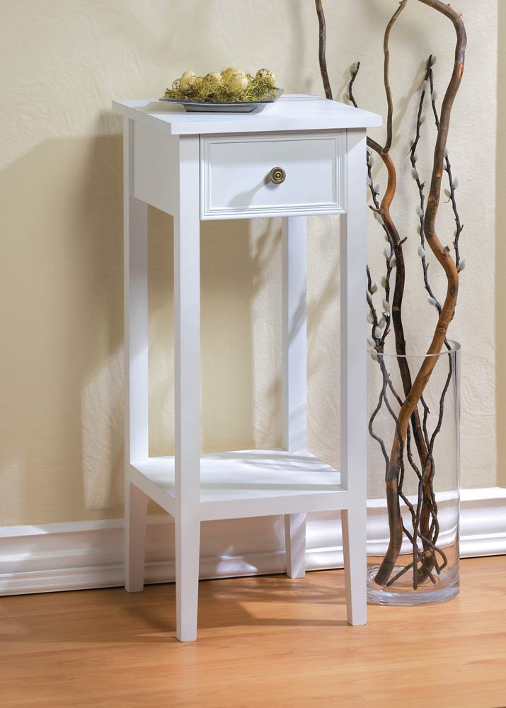 Amazon.com : F.A. Decors Classic White Accent Table, Side Table or Plant  Stand : Garden & Outdoor