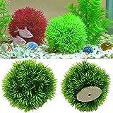 fish fry plant - Itemap Artificial Grass Ball Fish Tank Aquatic Simulation Plant Ornament Aquarium Decor