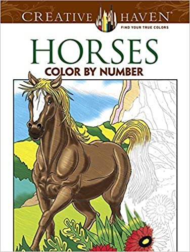 Creative Haven Horses Color By Number Coloring Book (Creative Haven Coloring Books) by George Toufexis (2014-12-26)