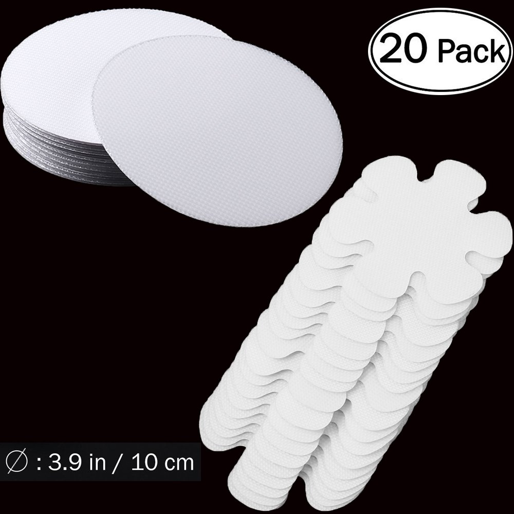 Hopasa Safety Shower Treads(20pcs),Non-Slip Bathtub Stickers Safety Adhesive Discs with Scraper for Tubs Bath,Non-Toxic,Anti-Bacterial,Mold (20pcs)