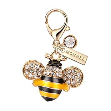 Amazon.com: MC30 nueva llegada lindo amarillo abeja charms ...