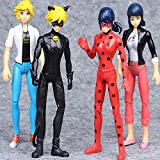 Kids Tooy - Ladybug 4 pcs Action Figure Toys - 4 pcs Miraculous Ladybug Noir Agreste Adrien Action Figure Kids Gift Doll Toys - Perfect Birthday Gifts - Toy for Baby, Kids and Toddler