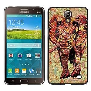 EJOY---Cubierta de la caja de protección para la piel dura ** Samsung Galaxy Mega 2 ** --Arte Africa Red Majestic Jungle