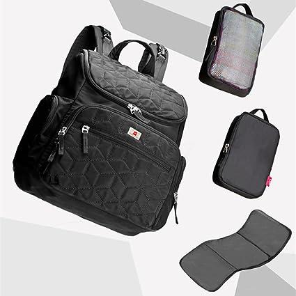 Negro Bebé Pañales para pañales bolso cambiador momia mochila carrito para colgar mochila