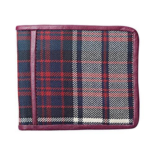 Hart MacDonald MacDonald Maroon Tartan Maroon leather Wallet Tartan MacDonald Wallet leather Hart Hart fRgx8EFW