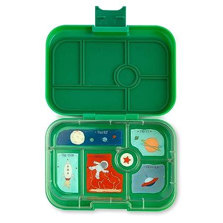 Yumbox Original M Lunchbox (Terra Green, 6 Fächer) - mittelgroß   Brotdose mit Trennwand Einsatz   Bento Box für Kindergarten