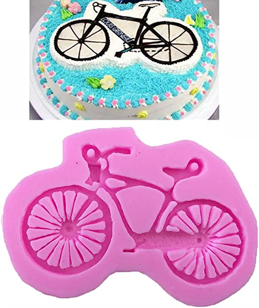 Para bicicleta forma silicona Fondant molde herramienta de ...