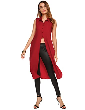 3ad509519a Zeagoo Women s Chiffon Sleeveless Cardigans Casual Cover Up Open ...