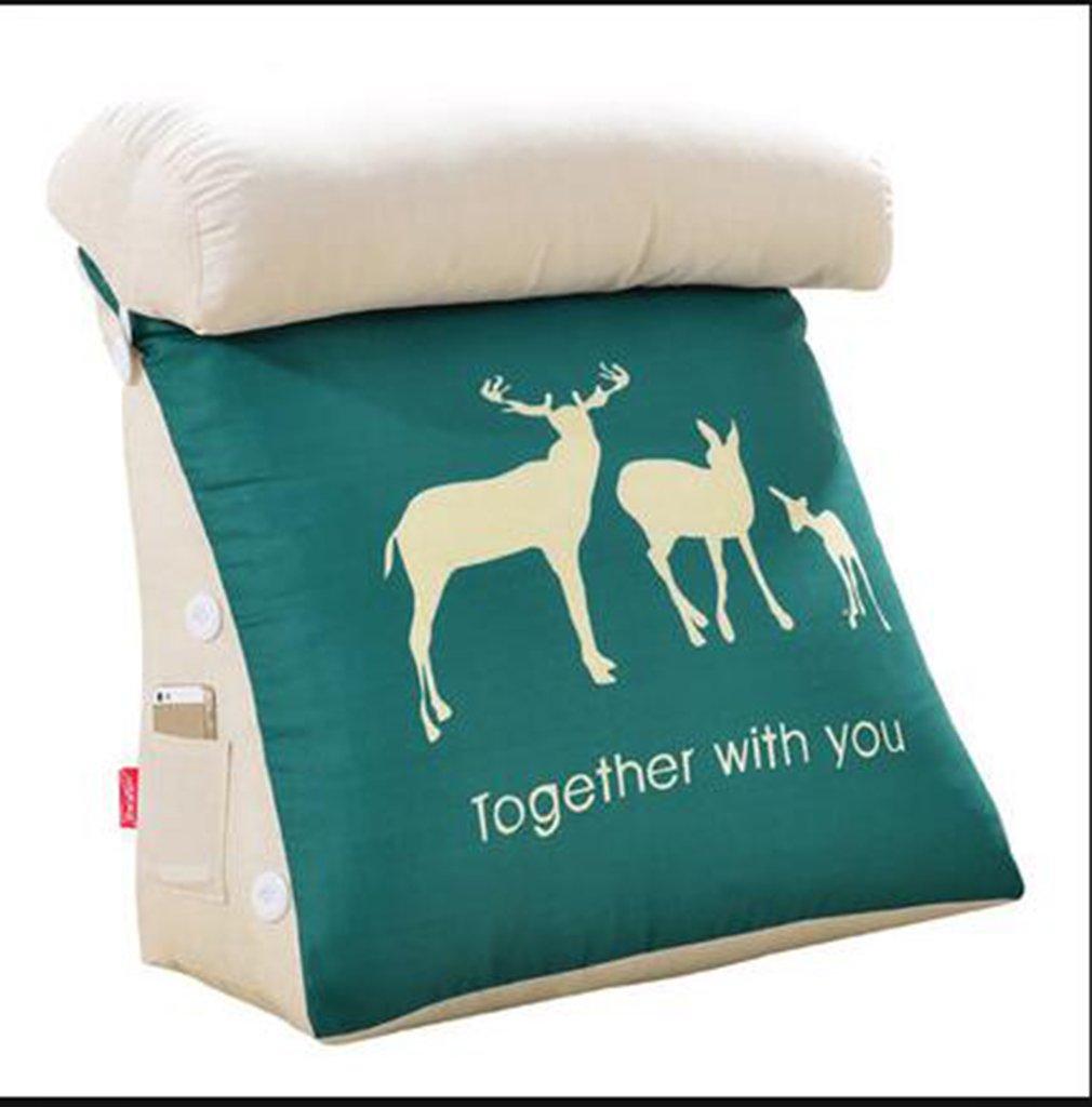 Moda Suave y cómoda Cojín del triángulo Cojín de la Cama de la Oficina Cojín del sofá Cojín del sofá Almohada de Viaje Almohada BAIKD-Almohada (Tamaño : 60cm(Comfortable))