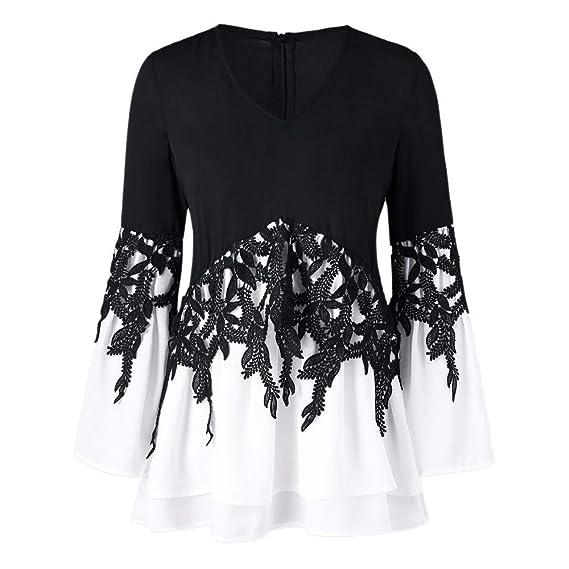 Blusas para Mujer Manga Larga,Camisetas de Mujer de Moda 2018,Moda para Mujer