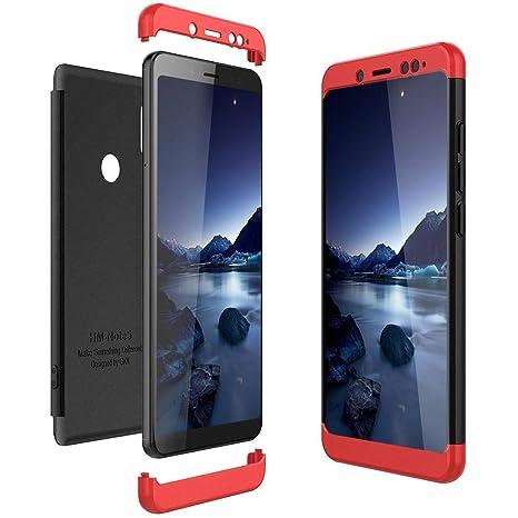 Solaxi Funda Xiaomi Redmi Note 5 Carcasa Mate 3 en 1 360 Grados Cuerpo Completo Ultra Delgado PC Duro Superficie Antigolpes Anti-Arañazos [Protección ...