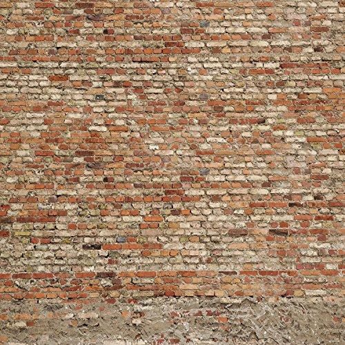 Red Brick Wall Photo Backgrounds Brick Floor Wrinkle free Photography Backdrops for Wedding wd0012 (10x10ft)