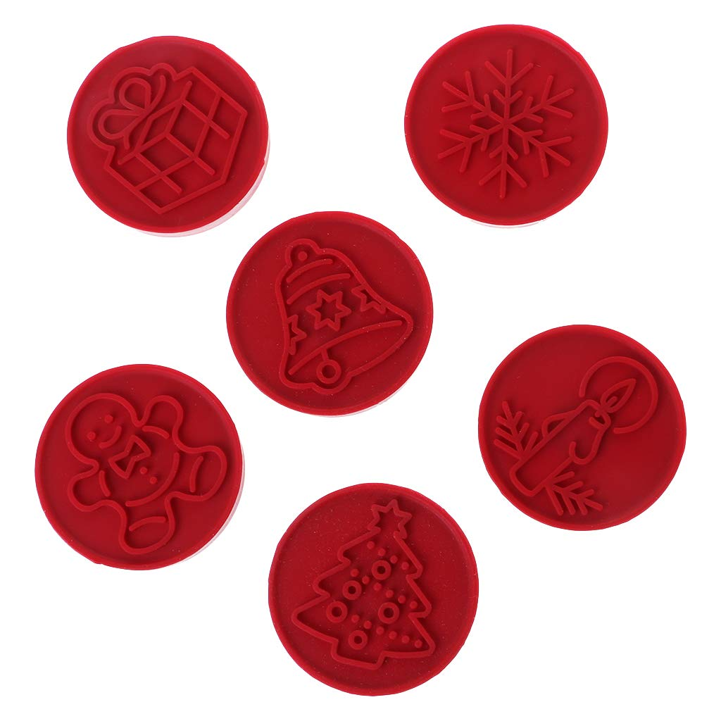 Fogun 6Pcs Christmas Cookie Stamp Chocolate Biscuit Cutter Mold Homemade Pastry Supply