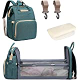 Diaper Bag Backpack with Changing Station Bed Baby Bags Travel Bassinet for Girls Boys Baby Stuff Crib Nappy Bag with Mat Pat