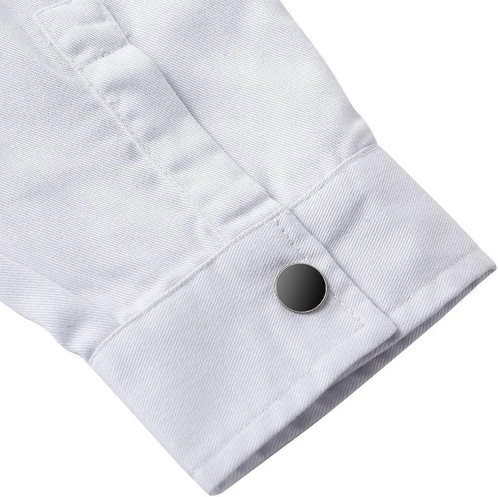 Camice per Le Donne Icertag Camice Bianco da Laboratorio Donna Medico Cappotto Camice Bianco per Le Signore Adatto per Studente Laboratorio Infermiera Cosplay Abito di Cotone
