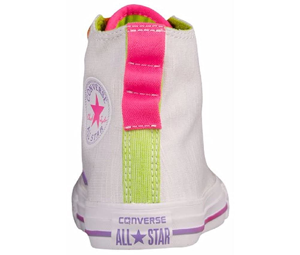 Converse Girls Chuck Taylor All Star Loopholes Jersey HI White//Bold Lime//White 5 M
