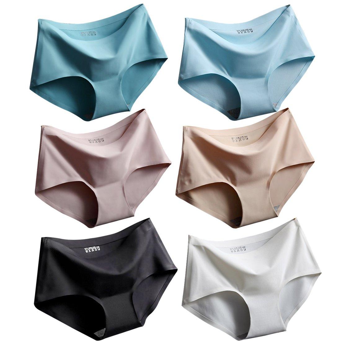 Srizgo Panty Damen 6er Pack Seamless bequem Soft Damen Slips