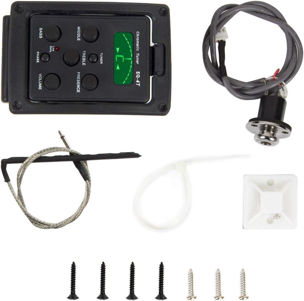 Ukulele Ukelele Uke Piezo Pickup Preamp 4-Band EQ Equalizer Tuner System with LCD Display