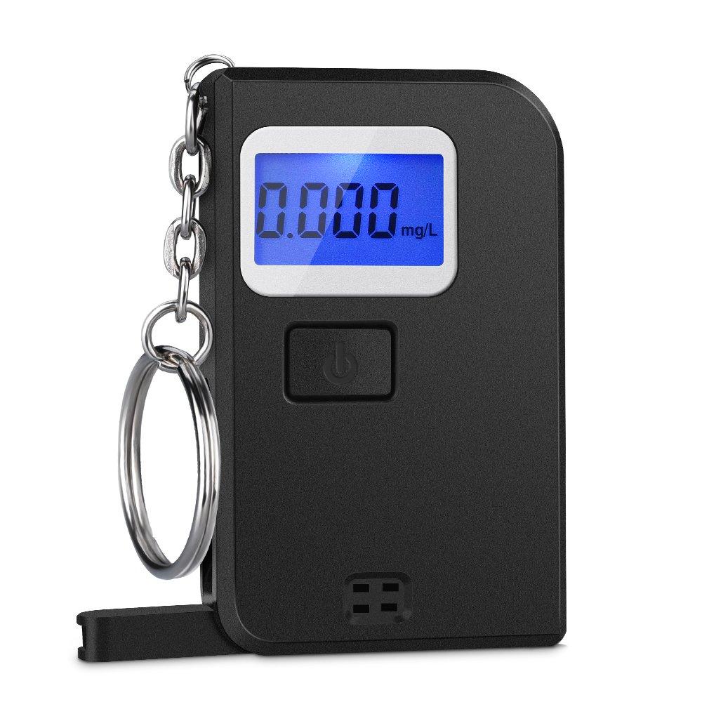 Homasy Breathalyzer, Mini Keychain Digital Breathalyzer, Portable Keyring Breath Alcohol Tester,