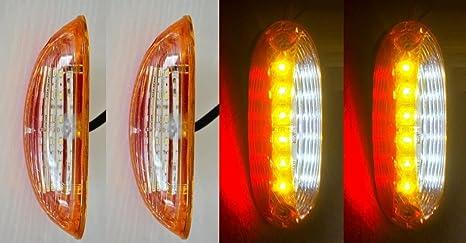 camping-car camion bus Lot de 30 feux de position lat/éraux LED Blanc//Rouge//Orange 12//24 V pour remorque caravane camion