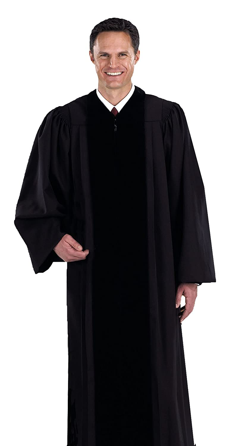 Amazon.com: Black Pastor / Pulpit Robe (X-Large 59): Kitchen Aprons ...