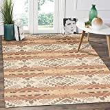 HEBE Cotton Area Rug 4'x6' Large Hand Woven Multi Color Striped Cotton Area Rag Rug Floor Carpets for Bedroom, Living Room, Kitchen,Kids Room(Multicolor)