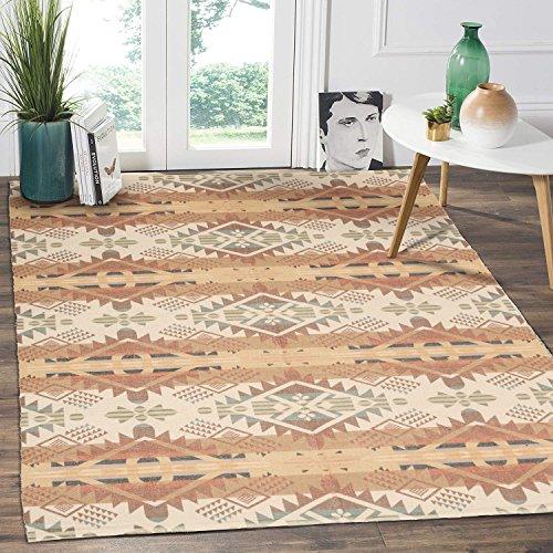 HEBE Cotton Area Rug 4'x6' Large Hand Woven Multi Color Striped Cotton Area Rag Rug Floor Carpets for Bedroom, Living Room, Kitchen,Kids Room(Multicolor) (Area Rag Rug)