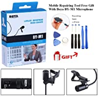 Boya by-M1 Omnidirectional Lavalier Condenser Microphone with 20ft Audio Cable for Canon iPhone DSLR Voice Video Recorder Mobile On Camcorder Nikon Camera 7 6s Plus Sony Mic