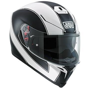 AGV k5-s enlace blanco/Mate Negro Casco de Moto: Amazon.es ...
