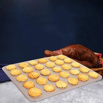 30 tazas de galletas de la bandeja para hornear no se adhieren al molde casero para hornear: Amazon.es: Hogar