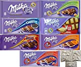 Assorted 7 Milka Chocolate (Oreo, Alpine Milk, LU, Milka Whole Nuts, Daim, Caramel, Strawberry). Includes Our Exclusive HolanDeli Chocolate Mints