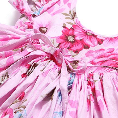 23994c9f4 Flofallzique Floral Vintage Toddler Girls Dress Holiday Birthday Party  Backless Sundress for Kids (5, Deep Pink) - FLODR16B < Dresses < Clothing,  ...